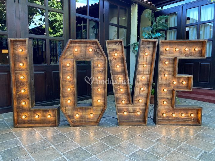 Letras love para bodas