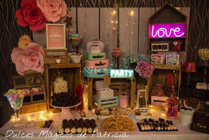 Mesa dulce boda A&C