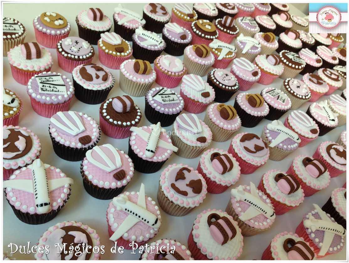 Cupcakes boda viajes