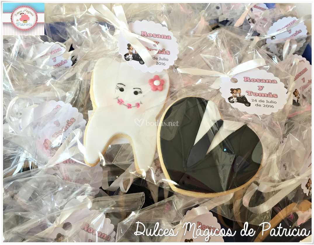 Galletas boda dentista muelas