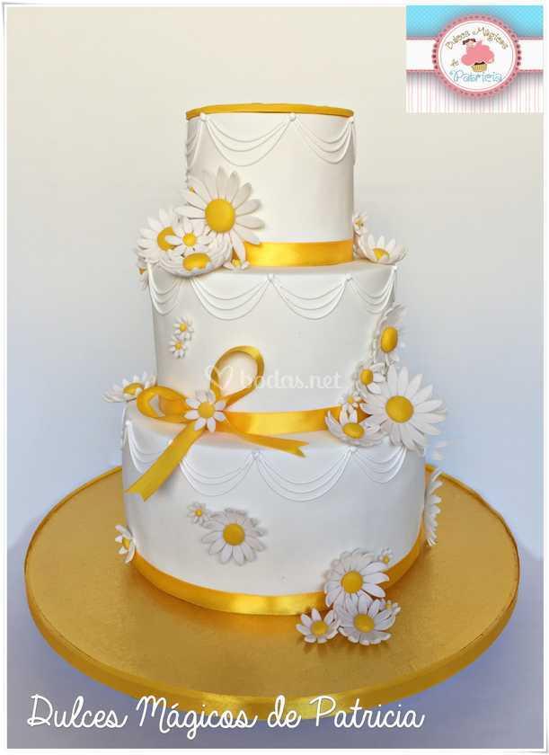 Tarta de boda margaritas