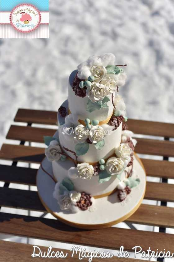 Tarta de boda invierno
