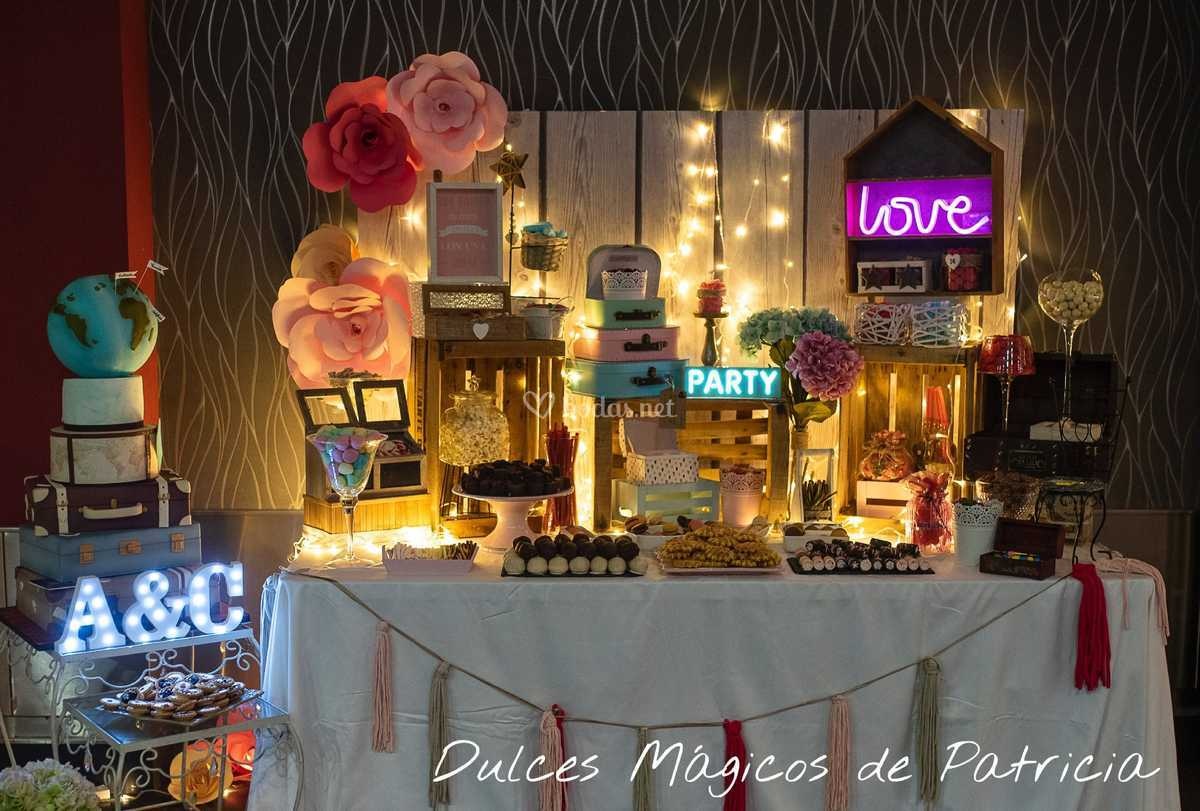 Mesa dulce boda Madrid A&C