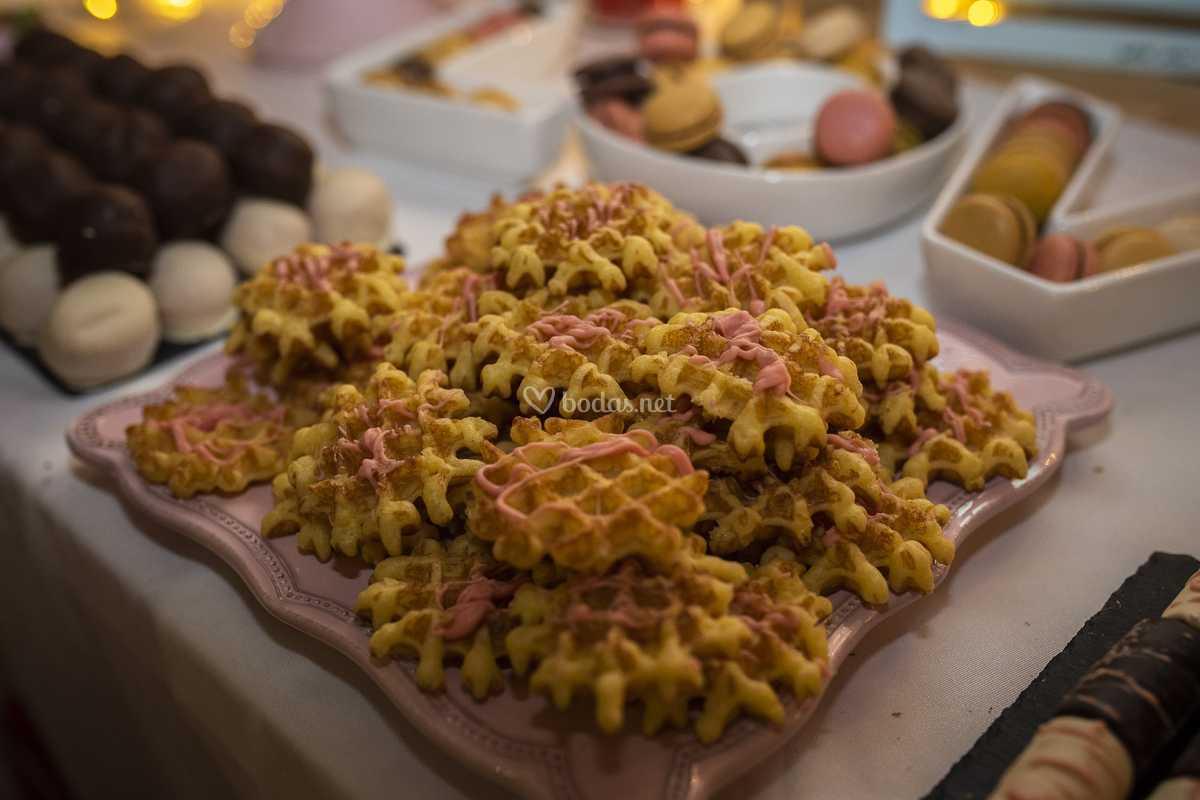 Gofres mesa dulce