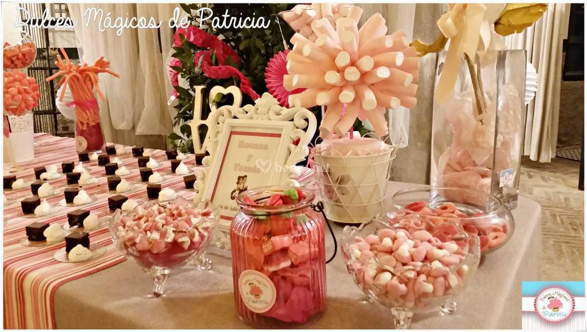 Mesa dulce boda Rosana y Tomás