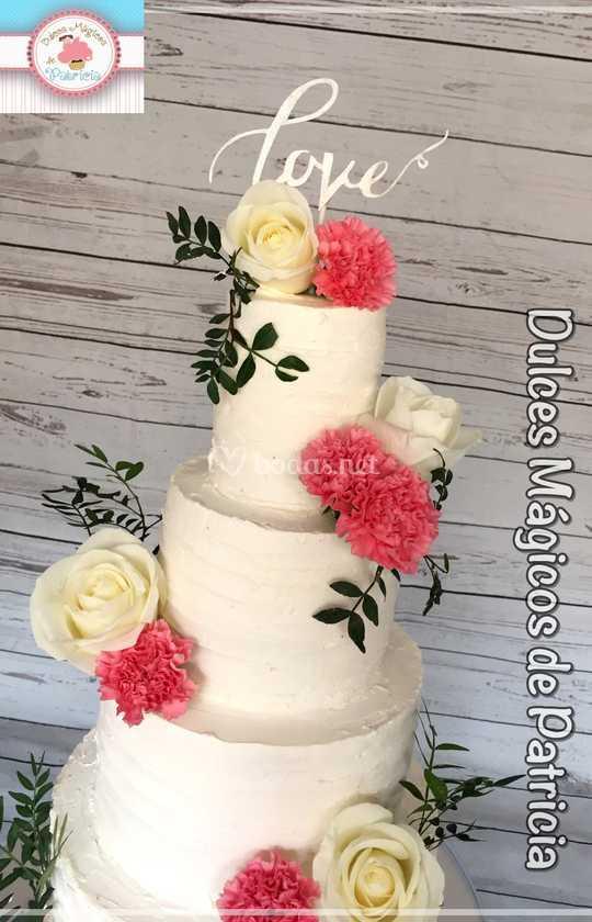 Tarta de boda love