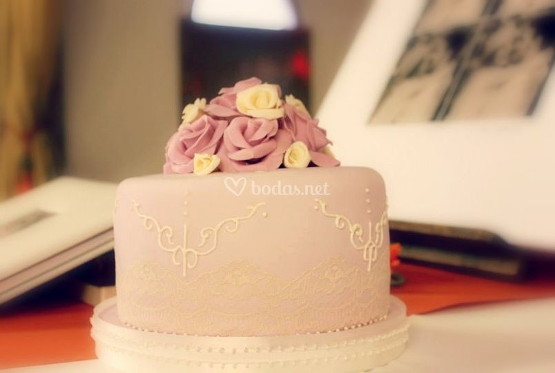 Tarta rosas vintage