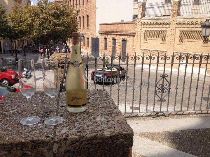 Botella de champan