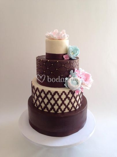 Tarta de boda chocolate blanco