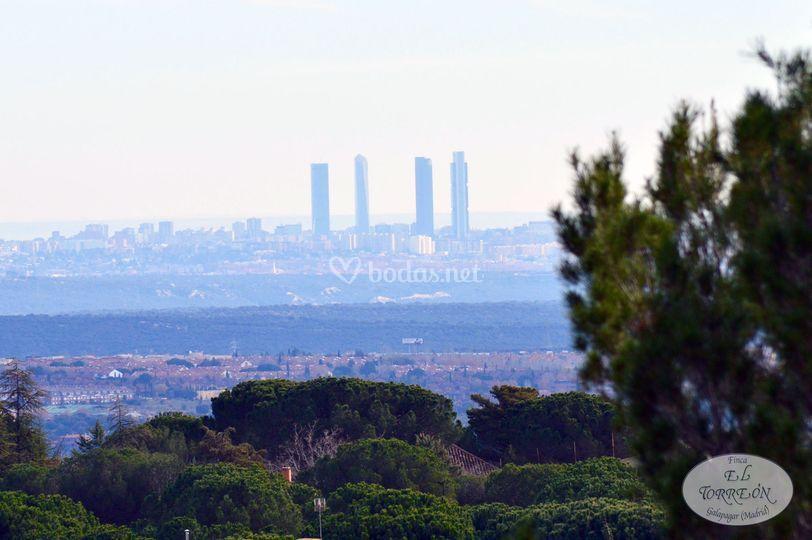 Vistas desde jardín Madrid