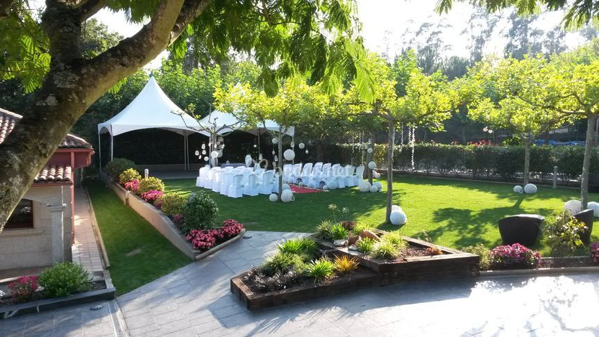 Ceremonia al Aire libre de Restaurante Los Robles