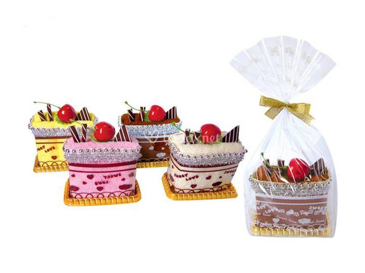 Toallitas en forma de pastel