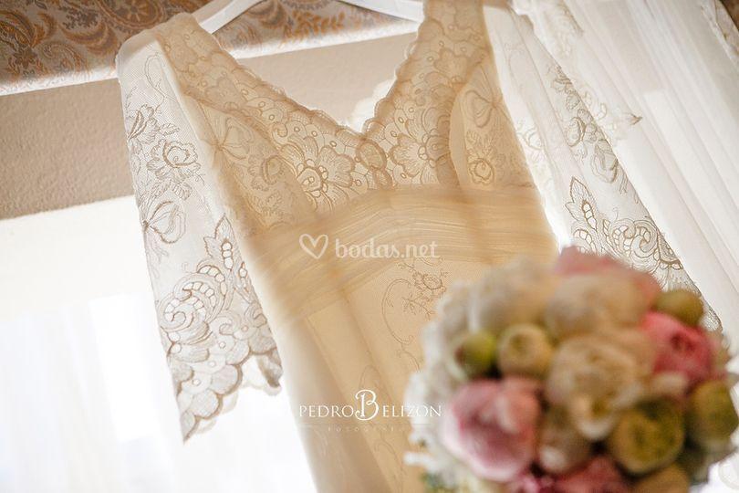 Vestido y ramo