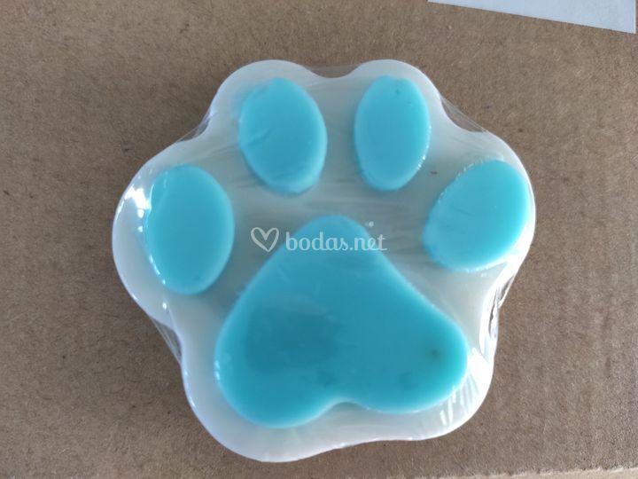 Jabón huella azul