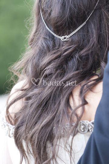 Detalle peinado Novia