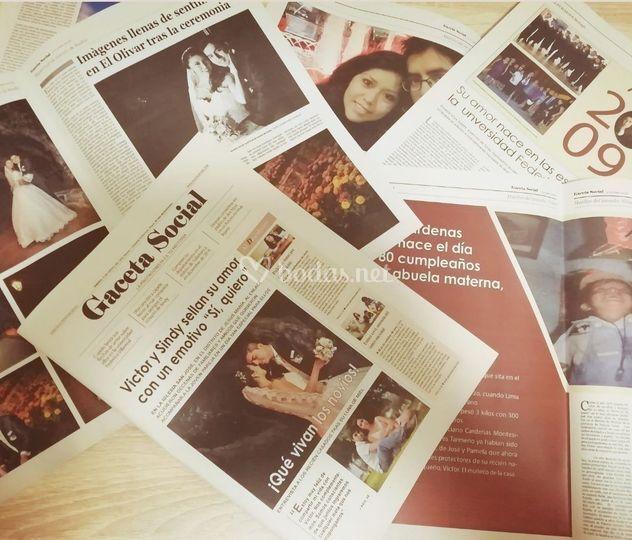 Periódico de boda
