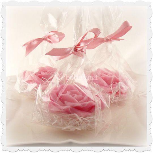 Rosas de jabón en bolsita