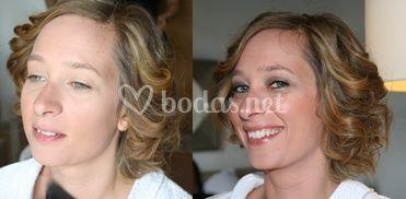 Antes/Después maquillaje