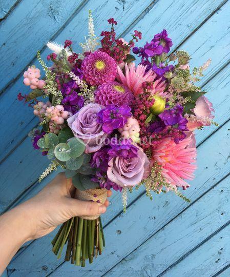 Ramo de novia flores frescas
