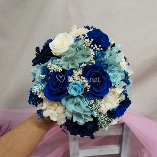 Preservado en color azul
