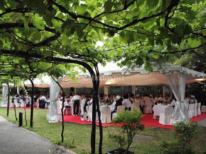 Banquete bajo carpa de el jard n de barretaguren foto 35 for Carpas para el jardin