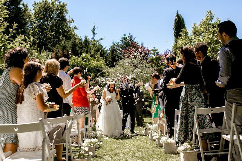Ceremonia civil al aire libre