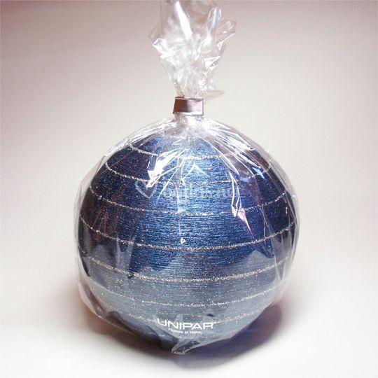 Vela detalle esfera azul