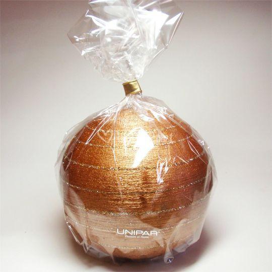 Vela detalle esfera cobre