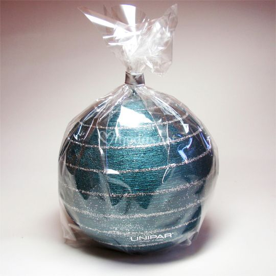 Vela detalle esfera turquesa