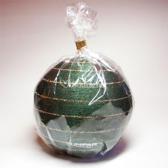Vela detalle esfera verde