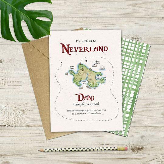 Invitación 'Neverland'