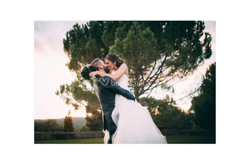 Beso de película Ingrid & Eric
