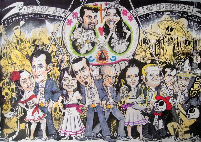 Caricaturas de  grupo