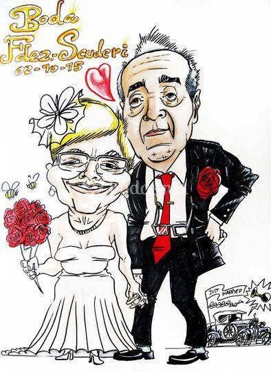 Caricatura bodas