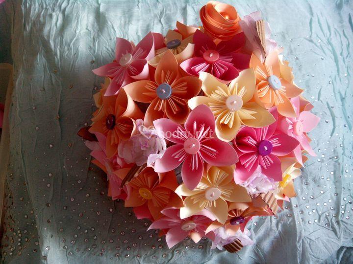 Ramo de novia de origami