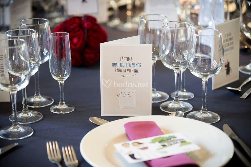 Tarjeta banquete