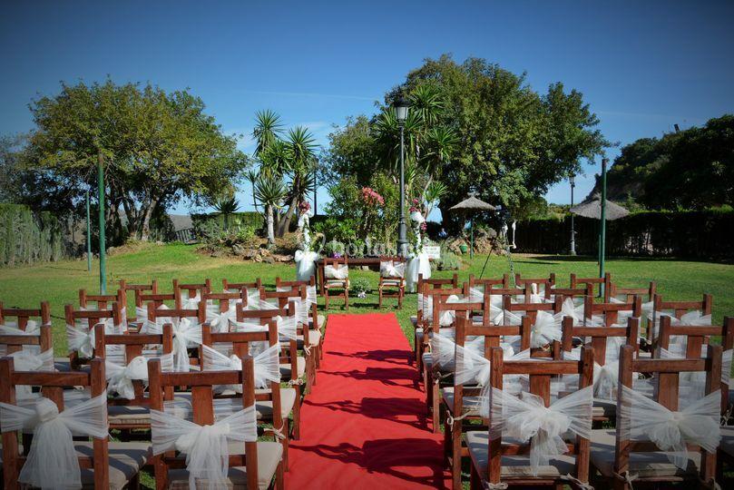 Decoración de la ceremonia civil