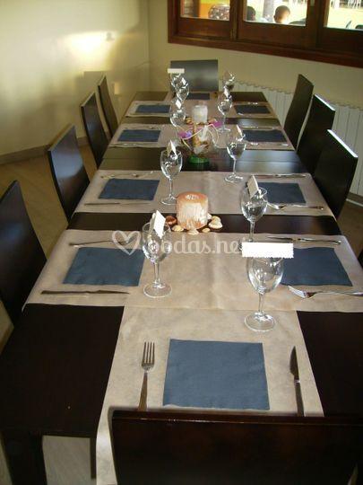 Presentación de mesa minimalista
