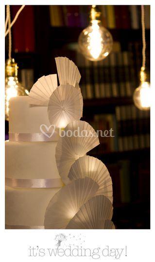Detalle de tarta de boda