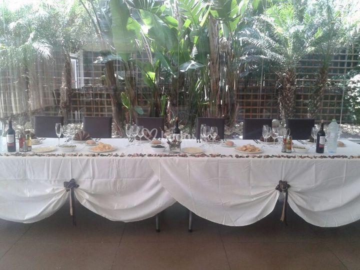 Banquete boda en Hotel