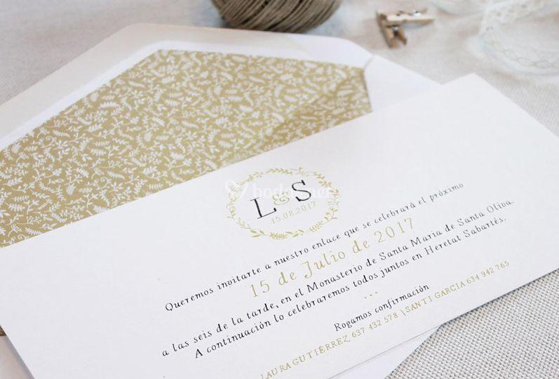Invitación - Delicada