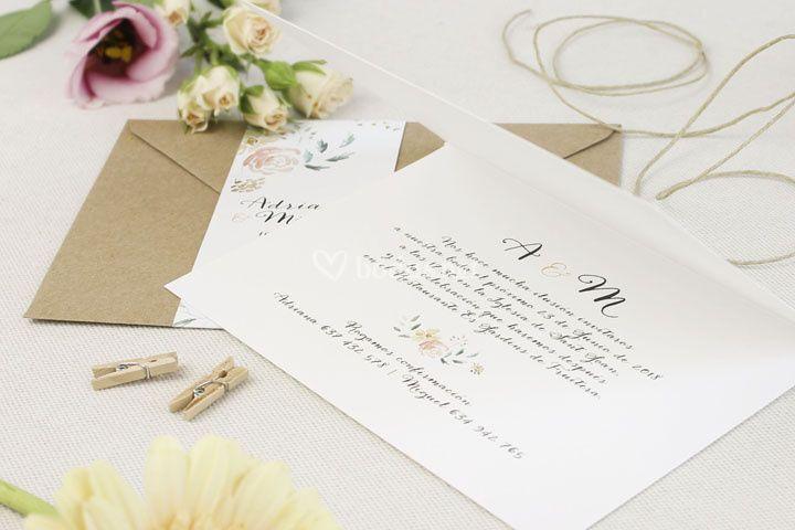 Invitación - Floral