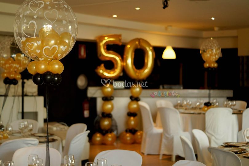 Decoracion de 50 aos mujer youtube vadeglobos for Decoracion con globos 50 anos