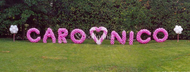 Nombres de novios en Boda