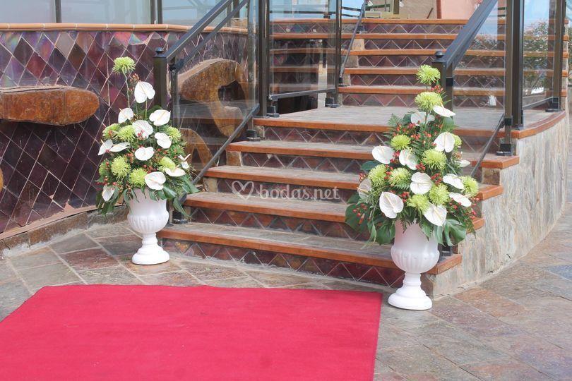 Entrada a la ceremonia