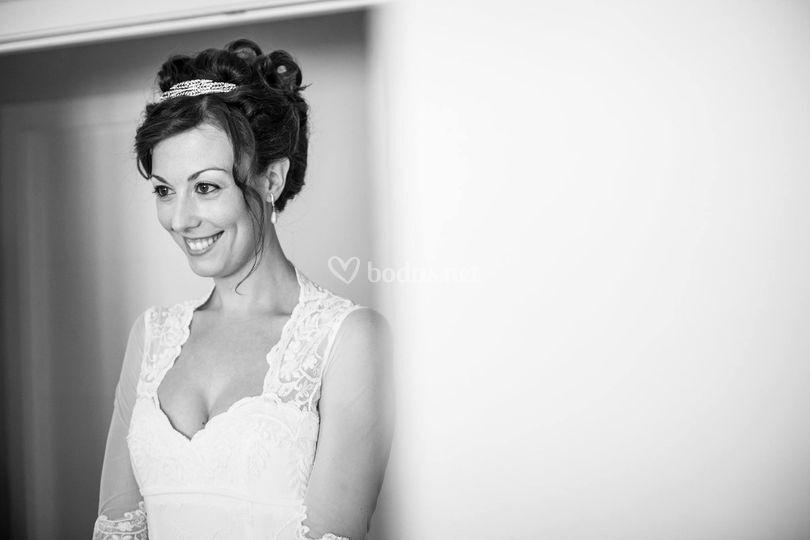 Recogido de novia con coronita