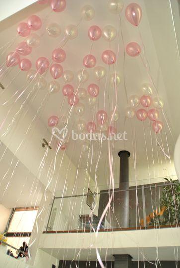 Suelta de globos para bodas