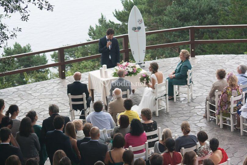 Una boda surfera