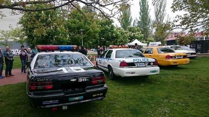 Policia y taxi de new york