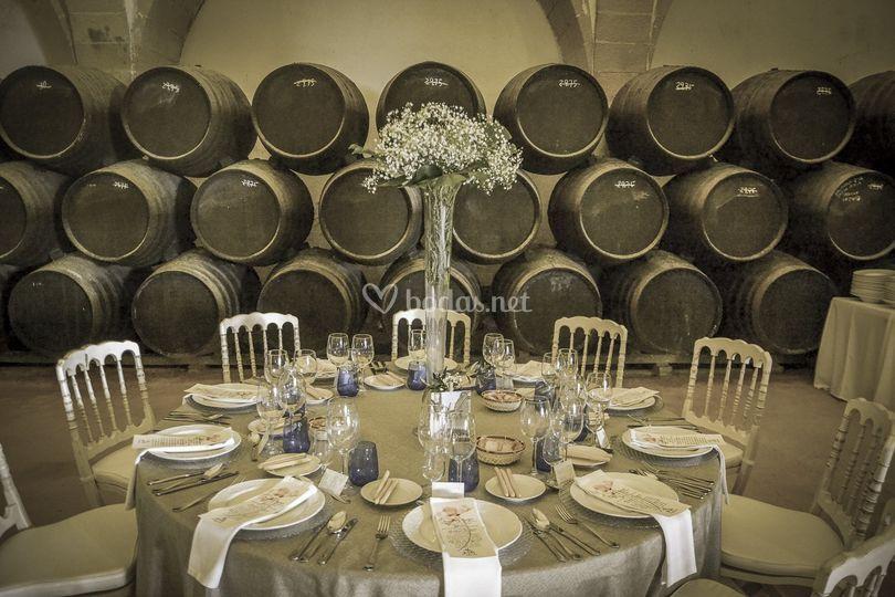 Montaje de banquete de boda